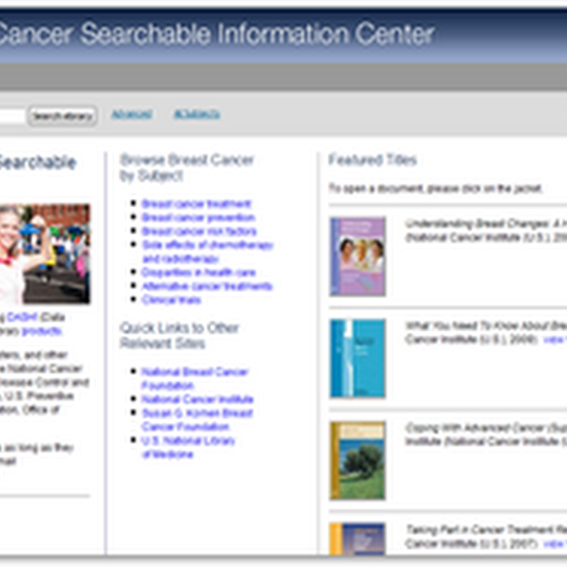 ebrary Free Breast Cancer Searchable Information Website