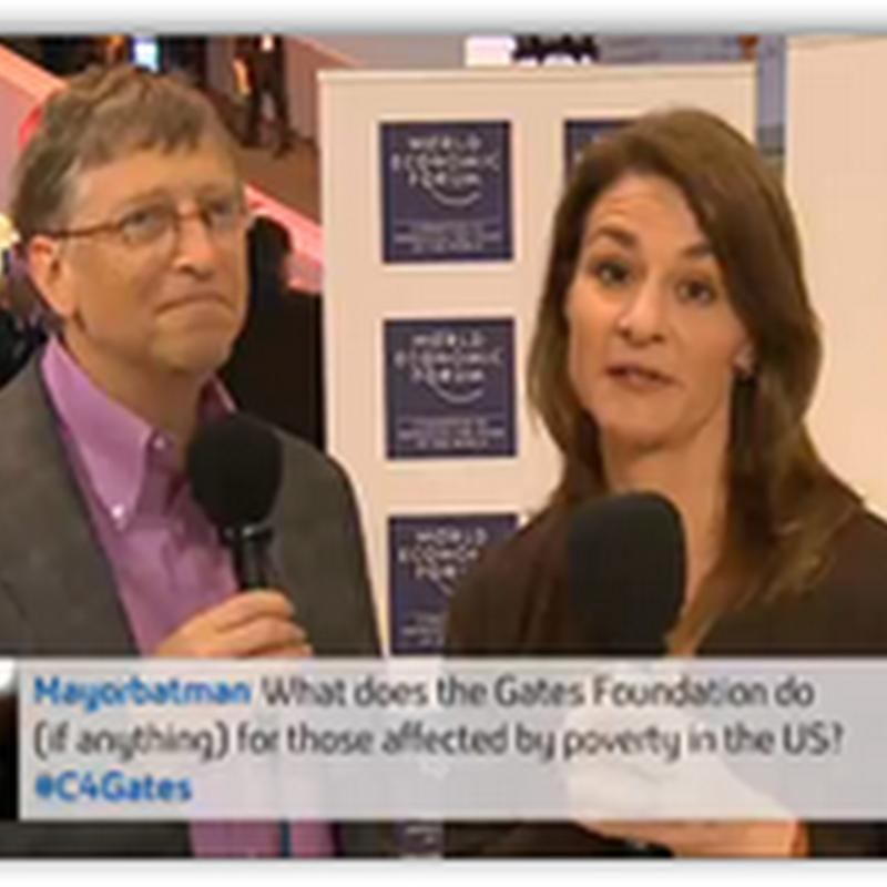 Bill and Melinda Gates At Davos- Polio Vaccines and Microsoft Kinect Entertains