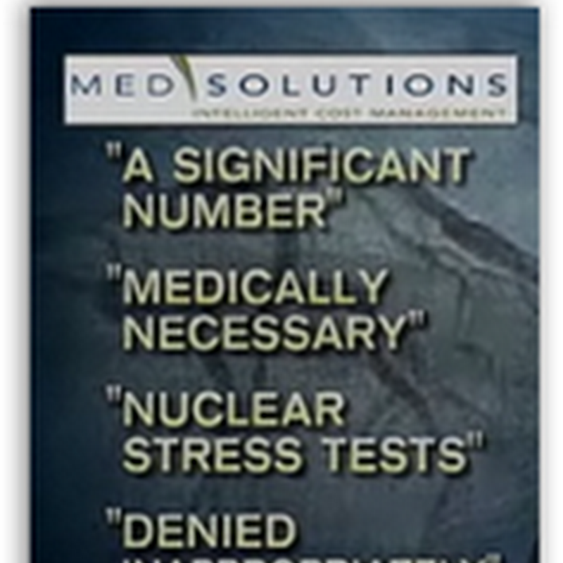 Med Solutions and Blue Cross Caught On the Stress Test Denial Algorithm (video)