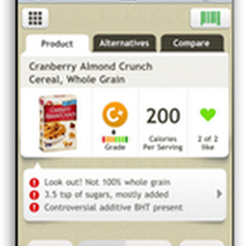 Fooducate IPhone Bar Code Program Helps You Make Healthy Choices at the Grocery Store