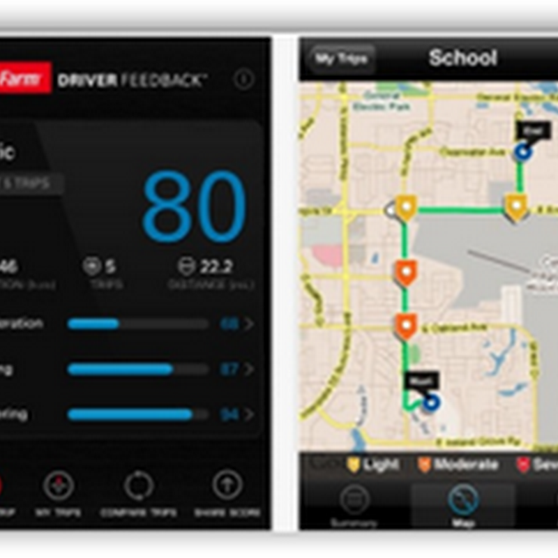 State Farm Has Mobile Application that Monitors and Reports Your Driving Habits