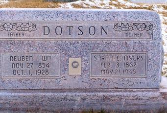 Reuben Dotson's Grave
