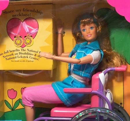 Barbie na cadeira de rodas
