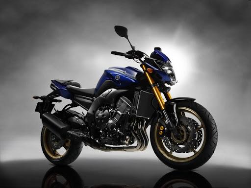 Yamaha Fazer 8 cor azul