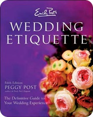 Peggy Post Wedding Etiquette Book
