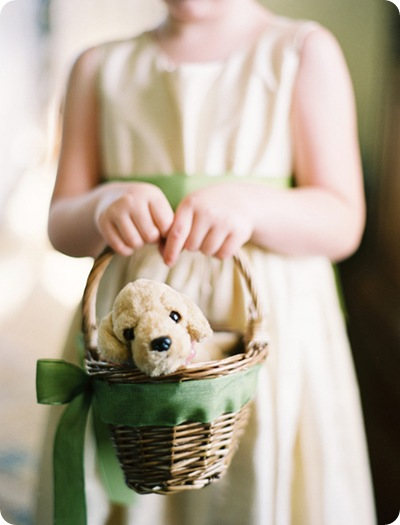 Flower girl stuffed animal