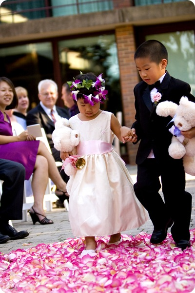 Flower girl ring bearer teddy bear