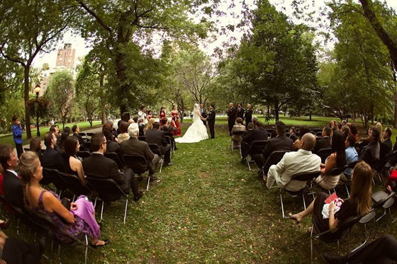 Newberry Library  wedding ceremony Washington Square Park Secondprint productions