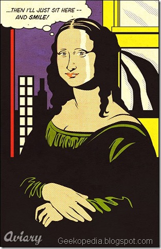 roy lichtenstein - mona lisa