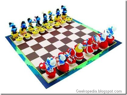smurfs-chess-set