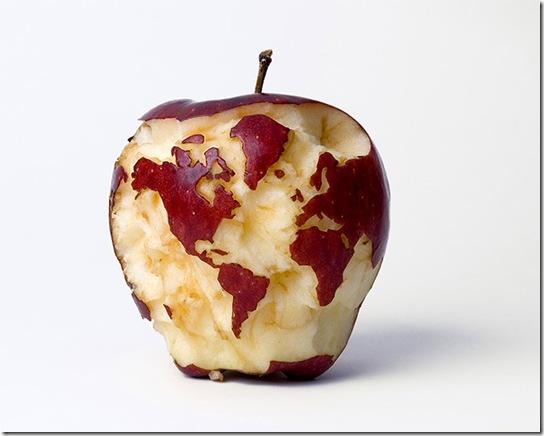 mundo en manzana