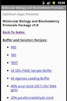Screenshot of Mol Biol & Biochem Protocols