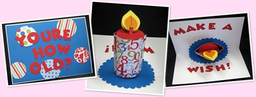 View pop up candle card