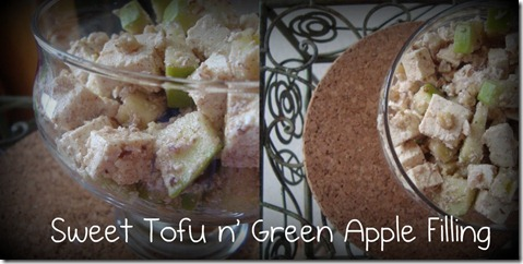 sweet tofu n green apple filling
