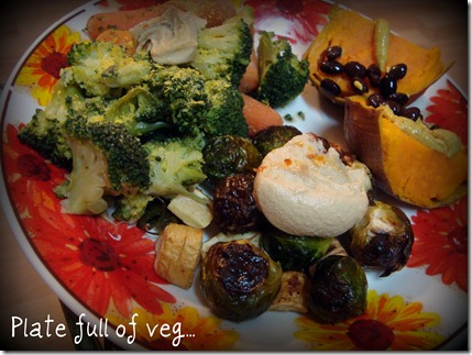 plate ful of veg