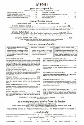 Seattle Space Needle Restaurant Menu Prices
