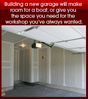 General Contractor - Gaithersburg, MD - Building a new garage will make room for a boat, or give you the space you need for the workshop you've always wanted.jpeg