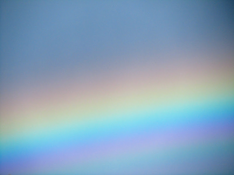 actual rainbow close-up photo