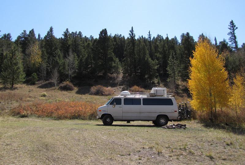 van at camping spot