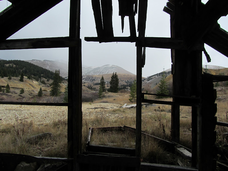 looking out of old cabin in leadville