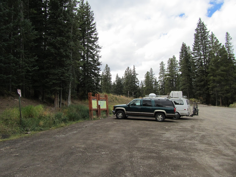 trailhead parking area at Boreas Pass