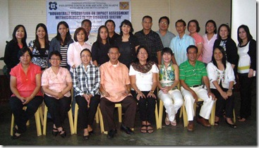 Dr. Aralar (seated, 3rd from left) together with workshop participants from PCAMRD and University of the Philippines Los Baños