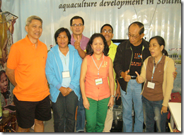 The AQD booth was visited by former Philippine President Fidel Ramos (2nd from right), here with AQD staff