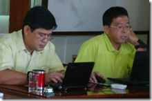 AQD Chief Dr. Joebert Toledo and Deputy Chief Dr. Teruo Azuma during the review and planning meeting