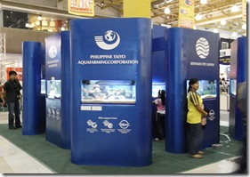 Centerpiece of the trade fair featuring aquaria with freshwater and marine species provided by AQD and private aquaculture farms