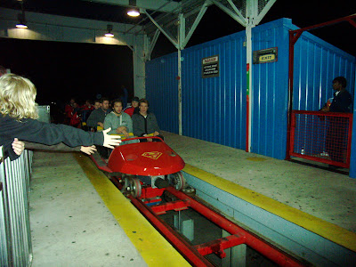 Returning from the second go round on the Ride of Steel.