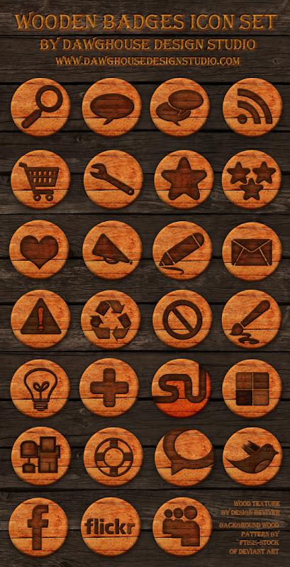 иконки деревянный стиль