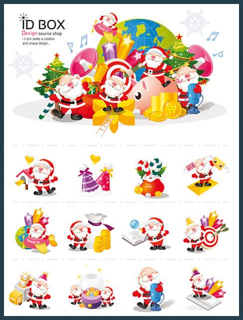 иконки дед мороз санта клаус новый год