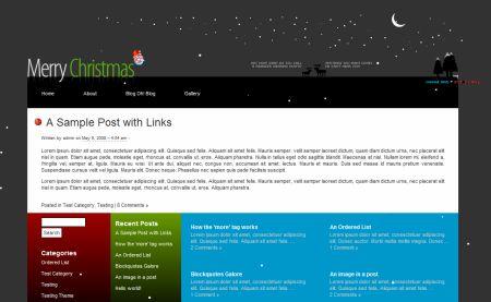 новогодний шаблон для wordpress