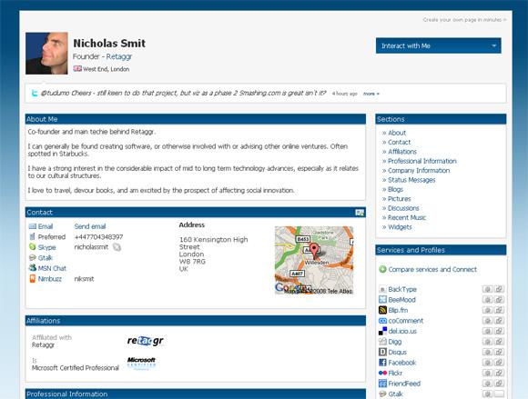 retaggr - полный профайл пользователя