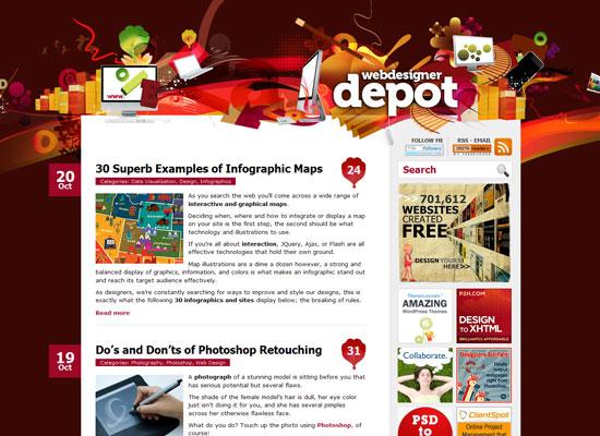 Webdesigner Depot дизайнерский блог