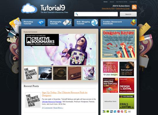 tutorial9 дизайн блог