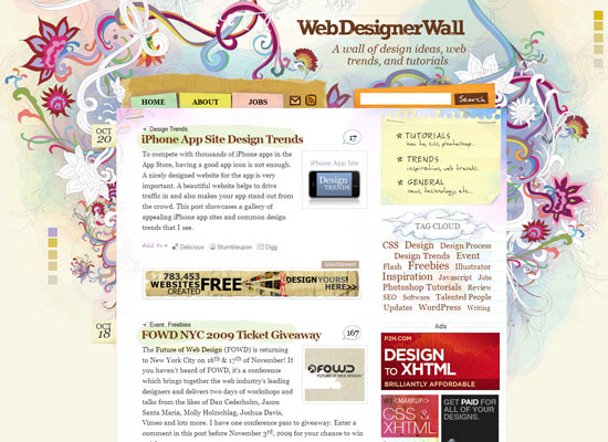 веб дизайн блог Web Designer Wall