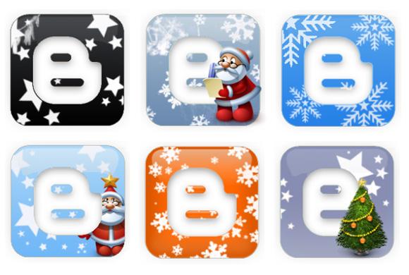 новогодние иконки Blogger Blogspot