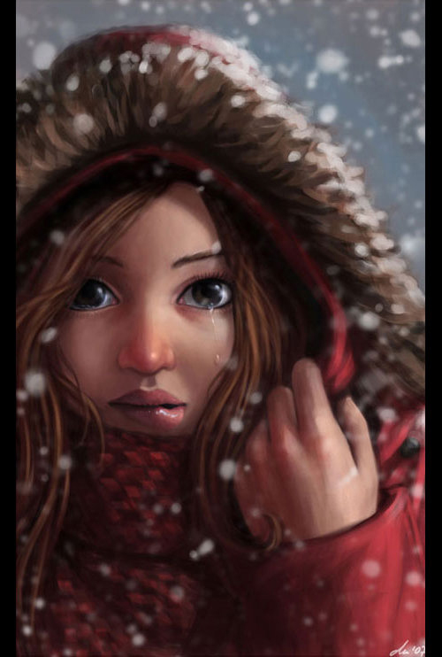 Winter girl picture