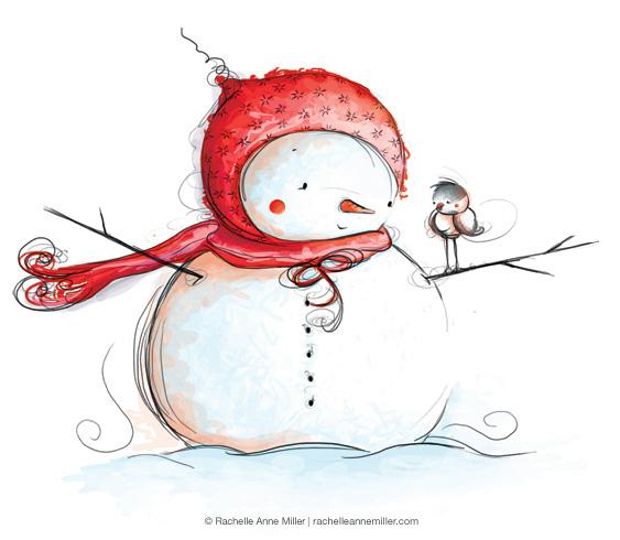 снеговик зима