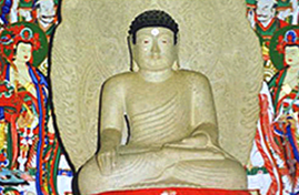 Uiseong The Statue of a Sitting Buddha in Gounsa Temple