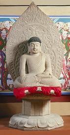 Uiseong Seated stone Sakyamuni buddha statue of Gounsa Temple