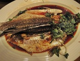 Steamed Seabass Fish With Superior Soy Sauce