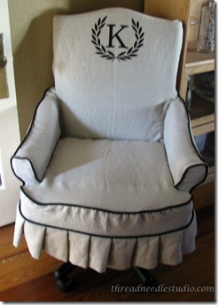monogram office chair