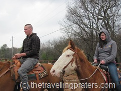 riding the horses