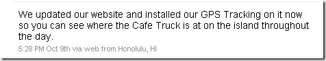 CafeTruck tweet