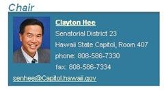 Senator Hee