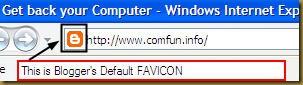 Default Blogger Favicon