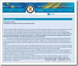Ministerul Justitiei si Libertatilor Cetatenesti