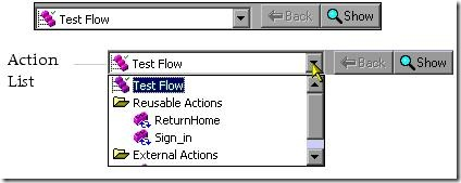 Actions Toolbar in QTP